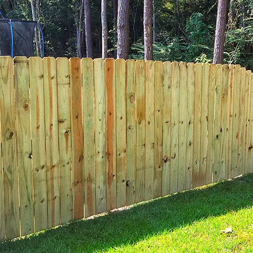 Fence King fence company installs pressure-treated pine privacy fences in Mandeville and surrounding northshore area.