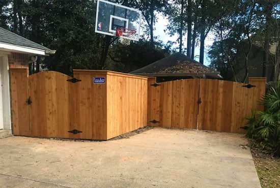 single-and-double-gate-with-arch-wooden-privacy-fence-capped-AFTER